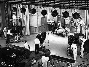 Multiple-camera setup - The Honeymooners was filmed using three Electronicams.