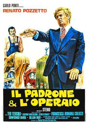 The Boss and the Worker - Italian theatrical release poster by Renato Casaro