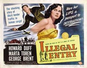 Illegal Entry (film) - Theatrical release lobby card