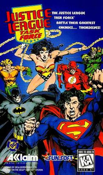 Justice League Task Force (video game) - Image: Justice League Task Force game cover
