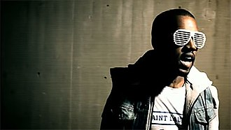 Stronger (Kanye West song) - Kanye West's shutter shades in the music video