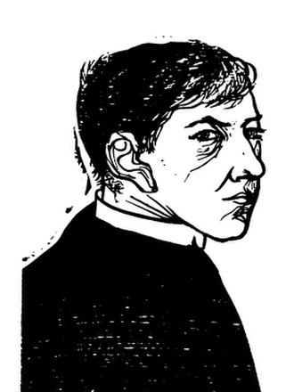 Leonard Baskin - Self-Portrait as Priest, 1952