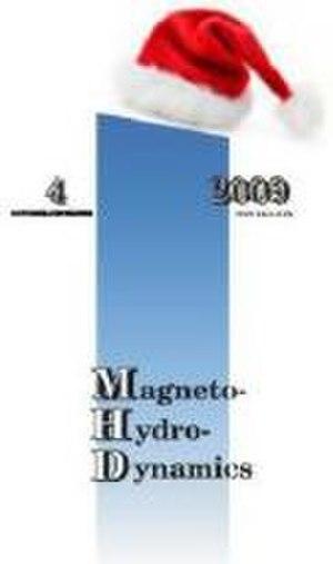 Magnetohydrodynamics (journal) - Image: Magnetohydrodynamics journal cover December 2009