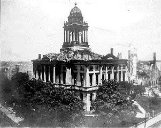 McLean County Courthouse and Square - The original courthouse after the catastrophic 1900 fire