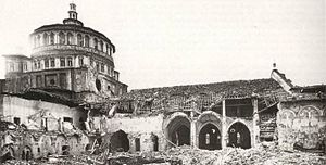 Santa Maria delle Grazie (Milan) - Results of the Allied raid in 1943.