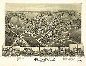 Minersville, Pennsylvania - Image: Minersville,1889