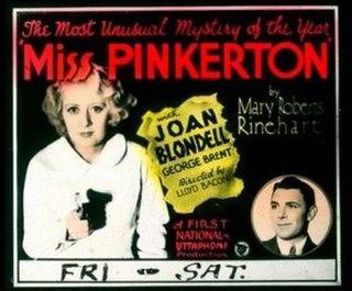 <i>Miss Pinkerton</i> 1932 film by Lloyd Bacon