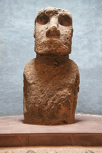 Relocation of moai objects - Image: Moai on display la serena