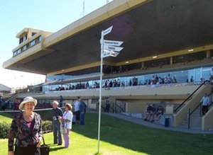 Morphettville Racecourse - View of the main grandstand