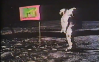 The first images shown on MTV were a montage o...