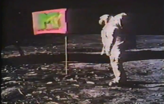 The first images shown on MTV were a montage of the Apollo 11 moon landing Mtvmoon.png
