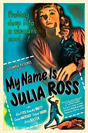 My Name Is Julia Ross - Theatrical release poster