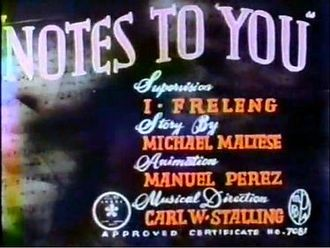 Notes to You - Colorized title card