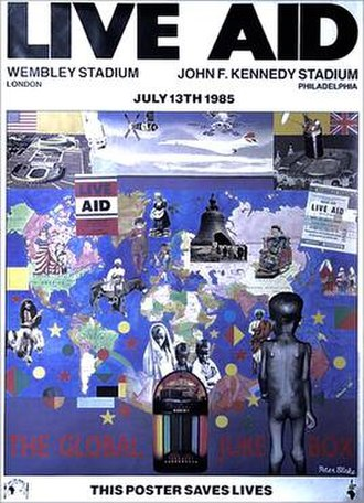 Live Aid - Image: Official Live Aid poster
