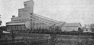 Luzerne County, Pennsylvania - A coal breaker in Plymouth (built in 1869)