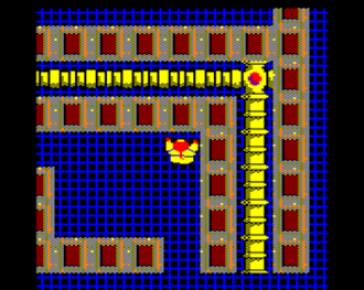 Pipeline (video game) - In game screenshot (BBC Micro)