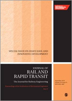 Proceedings of the Institution of Mechanical Engineers, Part F: Journal of Rail and Rapid Transit - Image: Proceedings of the I Mech E F journal cover
