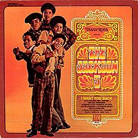 The cover to The Jackson 5's first LP, Diana Ross Presents The Jackson 5, released on Motown Records in 1969.