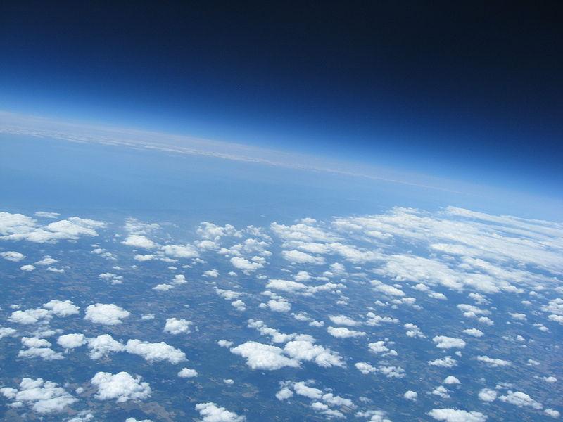 Vista desde globo de alta altitud