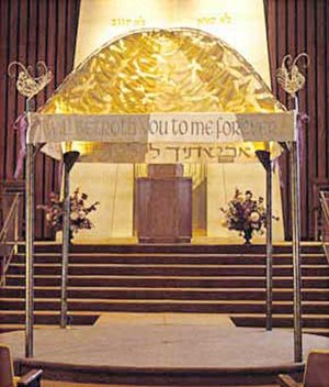 Chuppah - Chuppa at a synagogue in Toronto, Canada