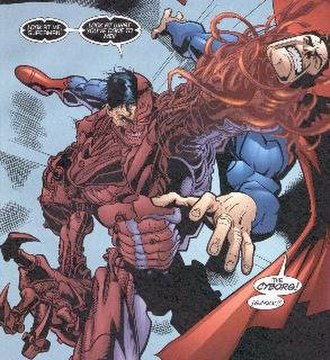 Hank Henshaw - Henshaw in his later, less Superman-based configuration. Art by Doug Mahnke