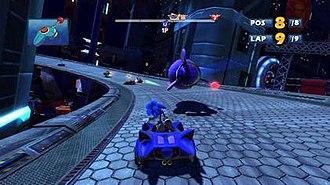 Sonic & Sega All-Stars Racing - Image: Sonic & Sega All Stars Racing Gameplay