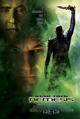 Star Trek: Nemesis - Theatrical release poster
