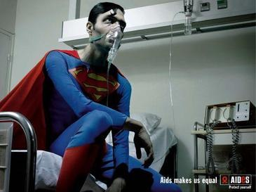 Superman in AIDES campaign