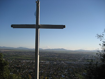 Cross of Light at Tamworth Lookout Tamworth lookout christian cross.jpg