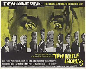 Ten Little Indians (1965 film) - UK release poster