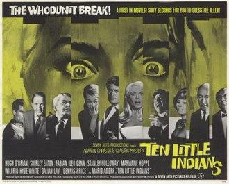 Ten Little Indians (1965 film) - UK release poster