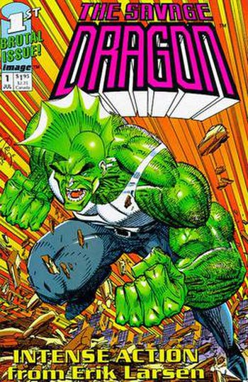 Cover to The Savage Dragon (original miniserie...