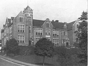 """Fairmont Senior High School - The second building to house FHS, """"The Point"""" was located on the corner of 5th and Benoni."""