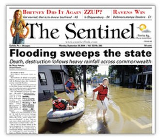The Sentinel (Pennsylvania) - Image: The Sentinel (Pennsylvania) front page