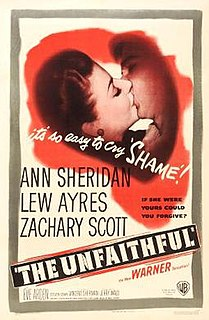 <i>The Unfaithful</i> (1947 film) 1947 film noir directed by Vincent Sherman