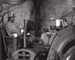 Mining in Wales - A Welsh miner at Tower Colliery