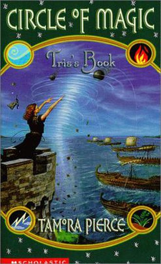 Tris's Book - Cover featuring Tris battling pirates who are trying to destroy the only home she has ever known.