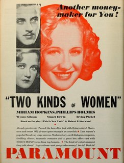 <i>Two Kinds of Women</i> (1932 film) 1932 film