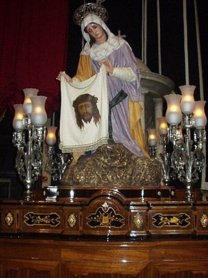 Saint Veronica - Statue of Veronica, used during the Good Friday procession in Zejtun, Malta.