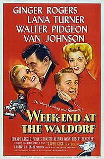 <i>Week-End at the Waldorf</i> 1945 American comedy drama film directed by Robert Zigler Leonard