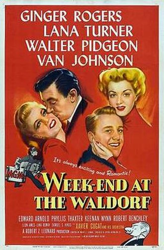 Week-End at the Waldorf - Theatrical release poster