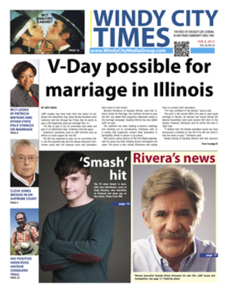 Windy City Times - Cover of the February 6, 2013 issue of Windy City Times