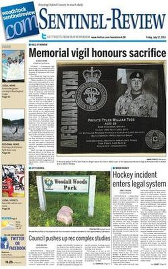 Woodstock Sentinel-Review - Image: Woodstock Sentinel Review