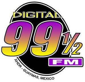 XHDR-FM - Image: XEDR XHDR digital 995 logo