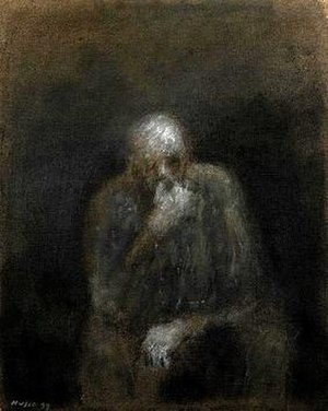 Zoran Mušič - Self-portrait (1997)