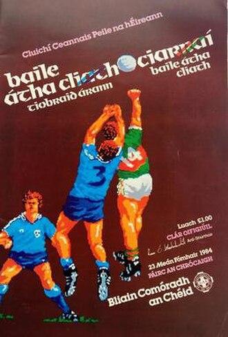 1984 All-Ireland Senior Football Championship Final - Image: 1984 Centenary All Ireland Football Final
