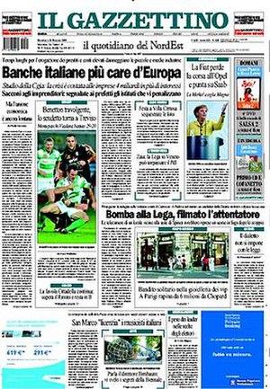 Il Gazzettino - Image: 20090531 ilgazzettino frontpage