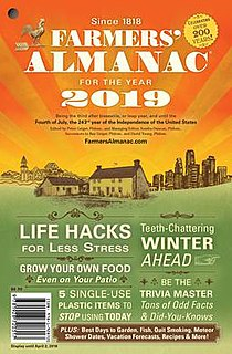 <i>Farmers Almanac</i> American annual periodical