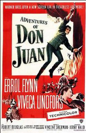 Adventures of Don Juan - Theatrical release poster