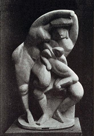 Alexander Archipenko - Image: Alexander Archipenko, La Vie Familiale, Family Life, 1912